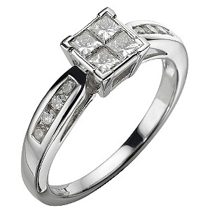 Platinum 60 Points Ring - Product number 5183391