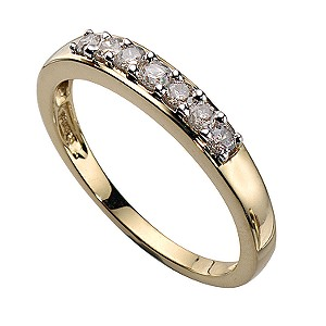 18ct Gold 1/4 Carat Diamond Seven Stone Eternity Ring