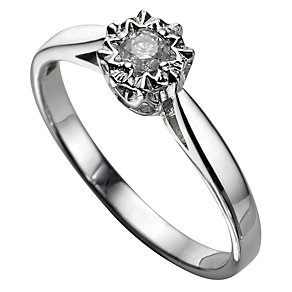 9ct White Gold Diamond Ring - Product number 5184894