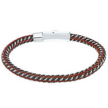 Stainless Steel & Red Wire Woven Bracelet - Product number 5187893