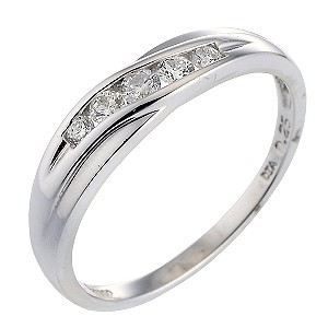 Platinum Quarter Carat Diamond Eternity Ring - Product number 5189586