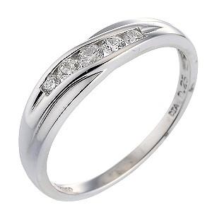 Platinum Quarter Carat Diamond Eternity Ring
