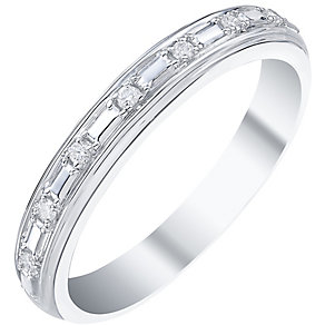9ct White Gold 0.4 Diamond Set Band Ring - Product number 5194806
