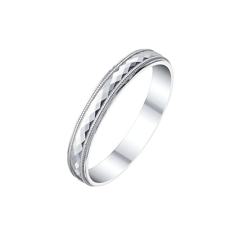 9ct White Gold Ladies Disco Ring - Product number 5195446