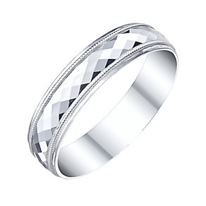 9ct White Gold Ladies Disco Ring - Product number 5195578