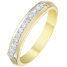 18ct Yellow Gold 0.15 Diamond Band Ring - Product number 5195853