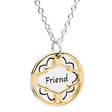Chamilia Gold Electroplated Friend Treasure Necklace - Product number 5196388