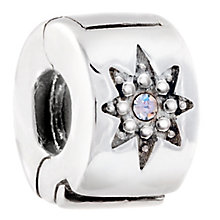 Chamilia Sterling Silver Crystal Star Lock Bead - Product number 5196590