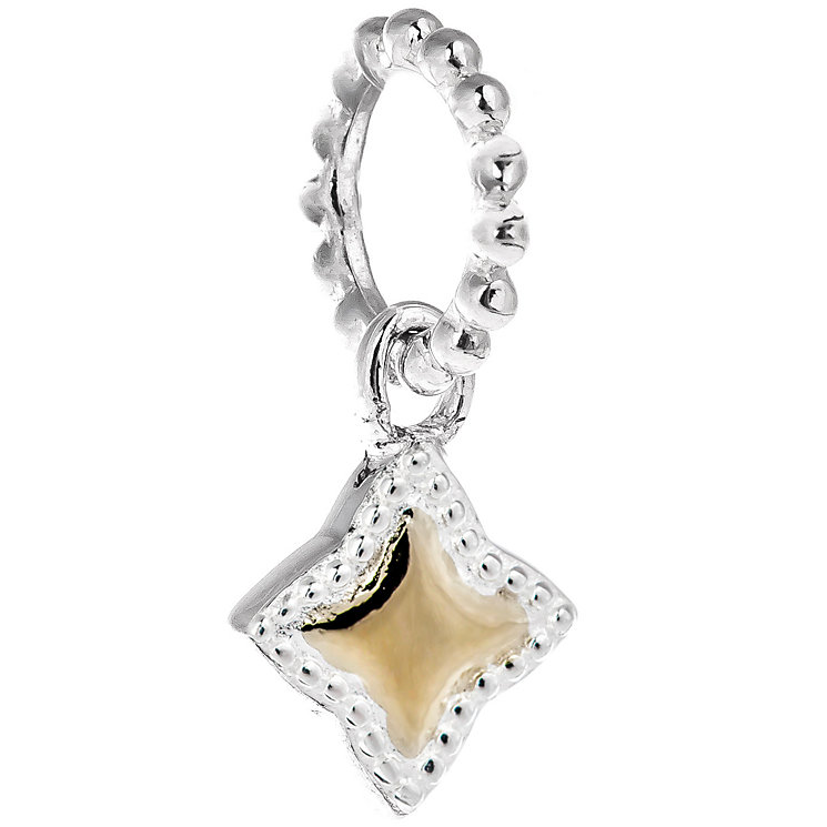Chamilia Yellow Gold Electroplate Milgrain Star Charm - Product number 5196655