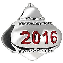 Chamilia Sterling Silver Feeling Festive 2016 Ornament Bead - Product number 5196752