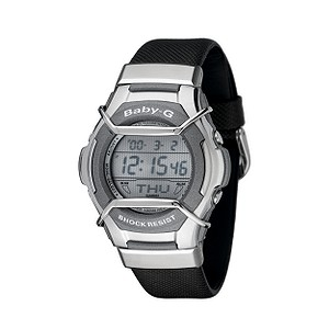 Baby-G Ladiesand#39; Black Strap Watch