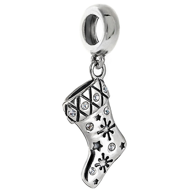 Chamilia Sterling Silver Snowflake Stocking Charm - Product number 5198534