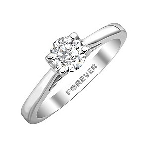 18ct White Gold 0.38 Carat Forever Diamonds Ring