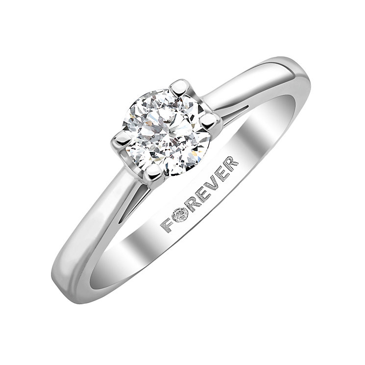 18ct White Gold 0.38 Carat Forever Diamond Ring - Product number 5203538
