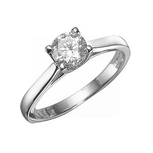 Forever Diamonds - 18ct White Gold 3/4 Carat Diamond Solitaire Ring