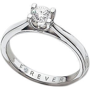 The Forever Diamond - Platinum 0.38 Carat Diamond Ring - Product number 5204194