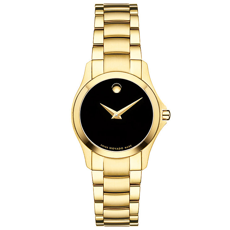 Movado Masimo Men's Gold Plated Bracelet Watch - Product number 5204755