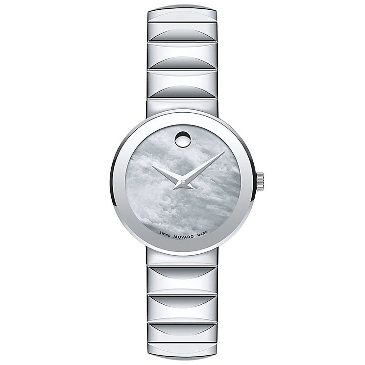 Movado Sapphire Ladies' Stainless Steel Bracelet Watch - Product number 5204771