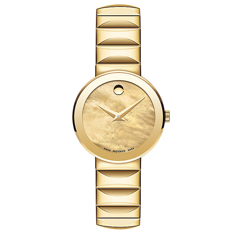 Movado Sapphire Ladies' Gold Plated Bracelet Watch - Product number 5204801