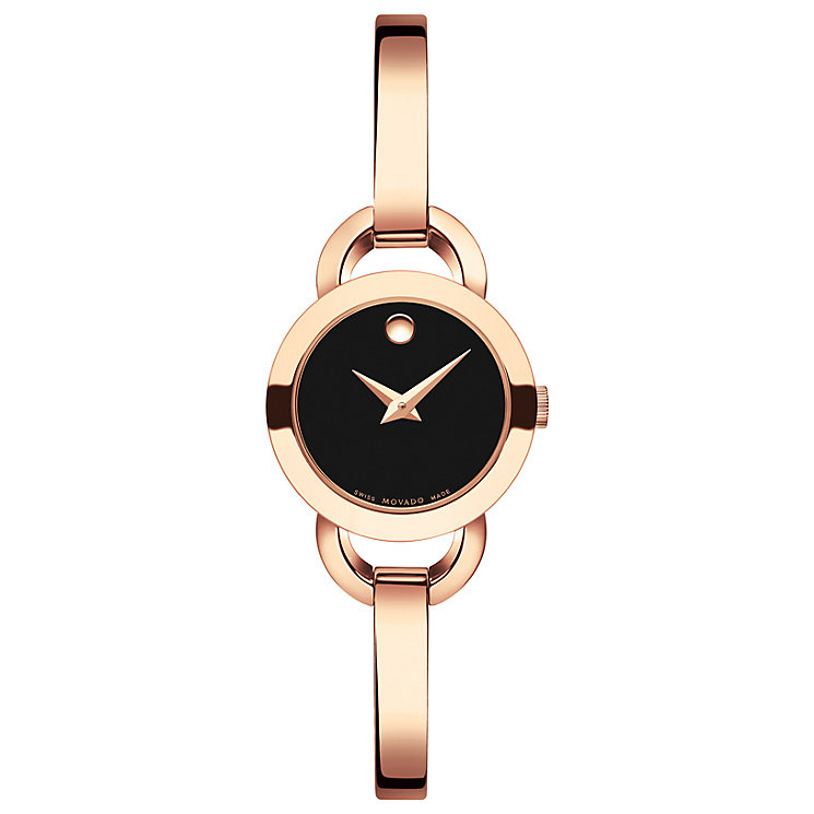 Movado Rondiro Ladies' Rose Gold Plated Bracelet Watch - Product number 5205115