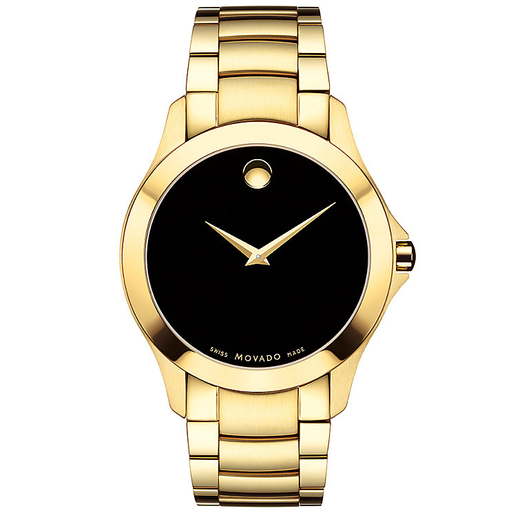 Movado Masimo Men's Gold Plated Bracelet Watch - Product number 5205255