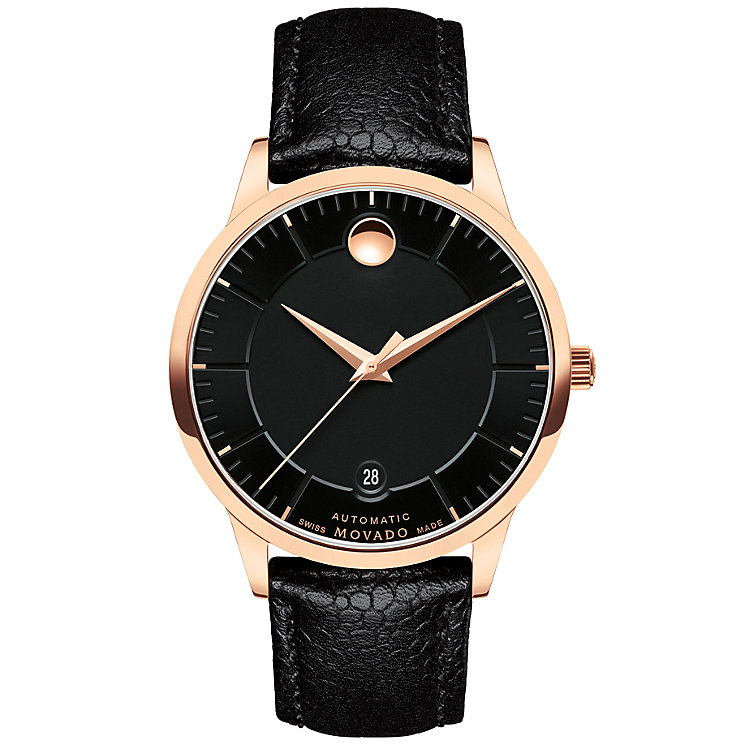 Movado 1881 Automatic Men's Rose Gold Plated Strap Watch - Product number 5205263
