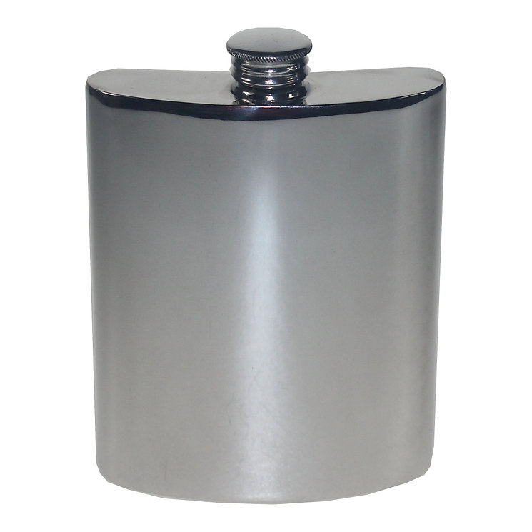 Captive Top 6oz Pewter Hip Flask - Product number 5207940