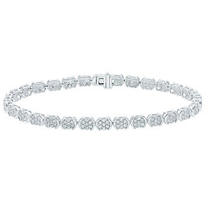 9ct White Gold 2ct Diamond Bracelet - Product number 5209196