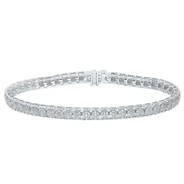 9ct White Gold 2ct Diamond Bracelet - Product number 5209226