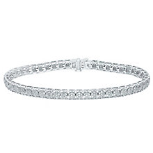 9ct White Gold 2ct Diamond Bracelet - Product number 5209226