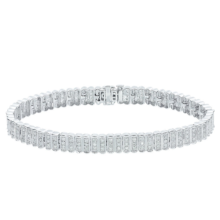 9ct White Gold 2ct Diamond Bracelet - Product number 5209234