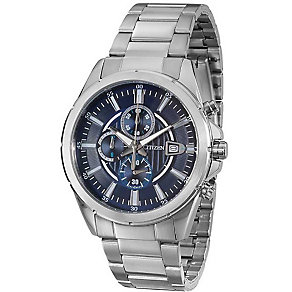 Citizen Men's Blue Dial Stainless Steel Bracelet Watch - Product number 5210097
