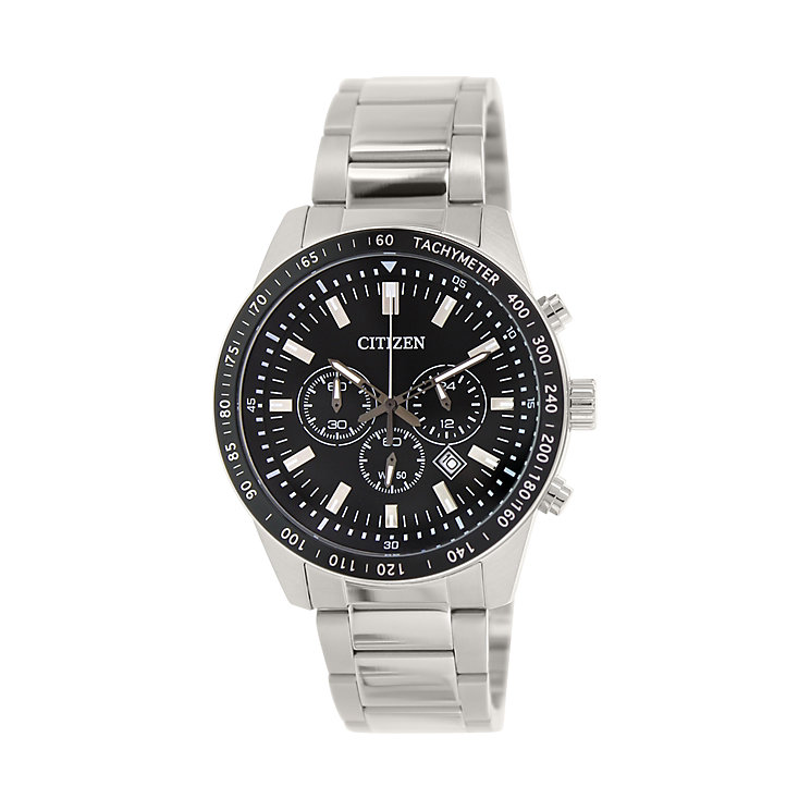 Citizen Men's Black Dial Stainless Steel Bracelet Watch - Product number 5210100