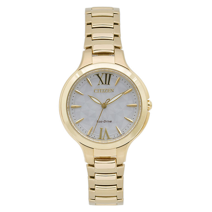 Citizen Eco-Drive Ladies' Gold-Plated Bracelet Watch - Product number 5210224