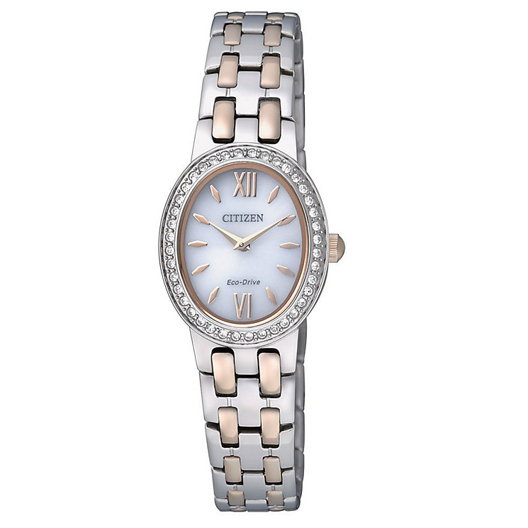 Citizen Eco-Drive Ladies' 2 Colour Steel Bracelet Watch - Product number 5210240