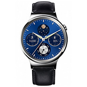 Huawei W1 Classic Blue Dial Black Leather Smartwatch - Product number 5210364