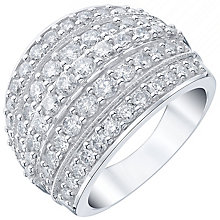18ct White Gold 2ct Diamond 5 Row Band - Product number 5210631