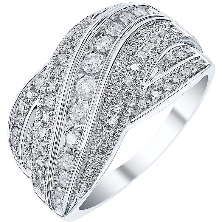 9ct White Gold 0.50ct Diamond Band - Product number 5210909
