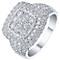 18ct White Gold 1.50ct Cushion Diamond Cluster Ring - Product number 5211042