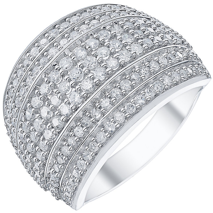 18ct White Gold 1ct Diamond 7 Row Band - Product number 5211441