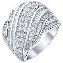 18ct White Gold 1ct Diamond Wave Band - Product number 5211719
