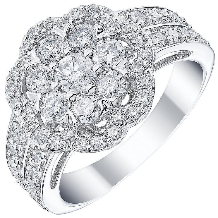 18ct White Gold 1.50ct Diamond Flower Ring - Product number 5211859