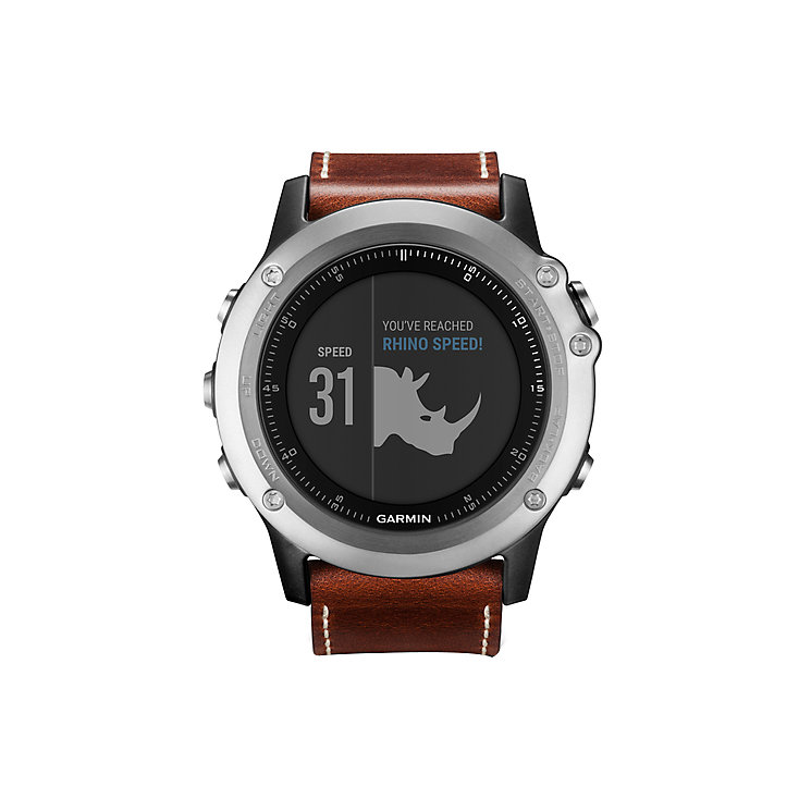 Garmin Fenix 3 Sapphire GPS Smartwatch - Brown Leather - Product number 5212138