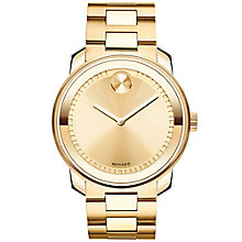 Movado Bold Men's Gold Plated Bracelet Watch - Product number 5212340