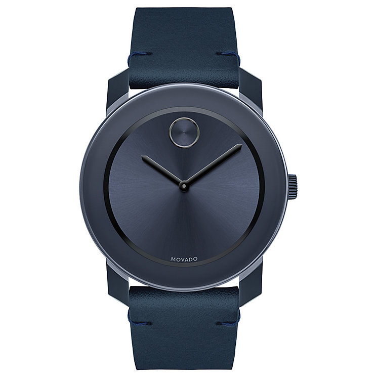 Movado Bold Men's Ion Plated Blue Strap Watch - Product number 5212383