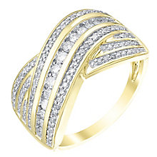 9ct Yellow Gold 0.50ct Diamond Ring - Product number 5213711