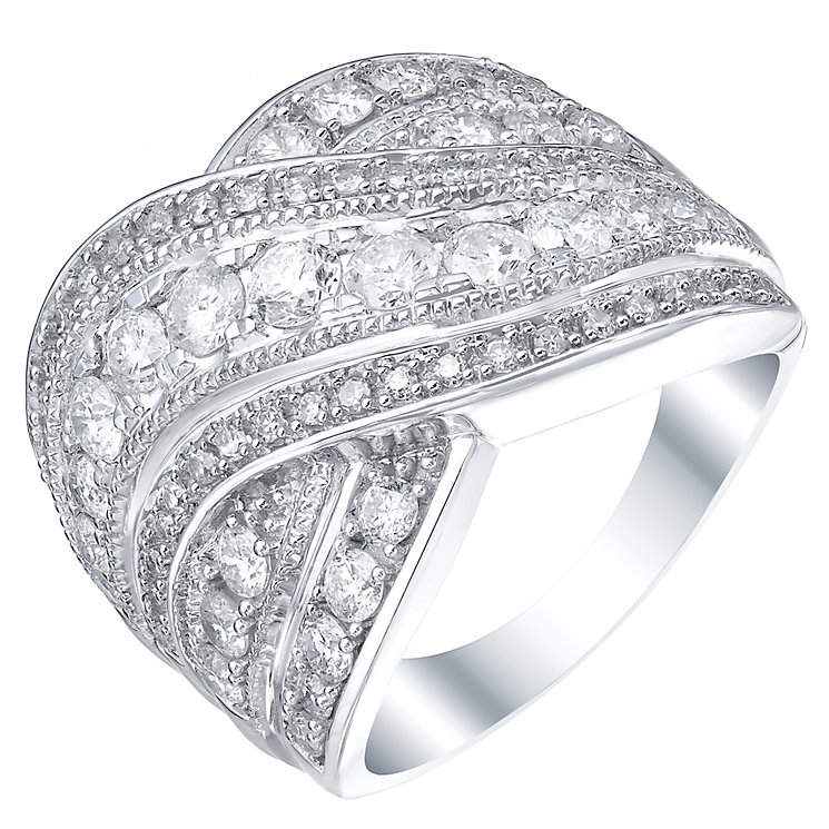 18ct White Gold 1.5ct Diamond Ring - Product number 5213843
