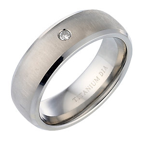 Men's Titanium Diamond Engagement Ring - Product number 5216141