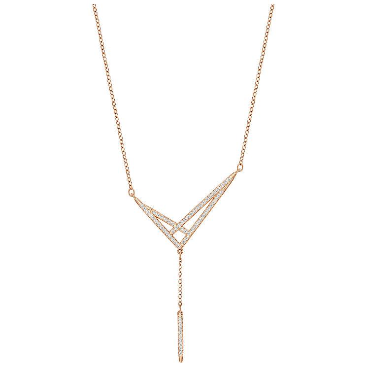Swarovski Fine Rose Gold Plated Crystal Necklace - Product number 5217288