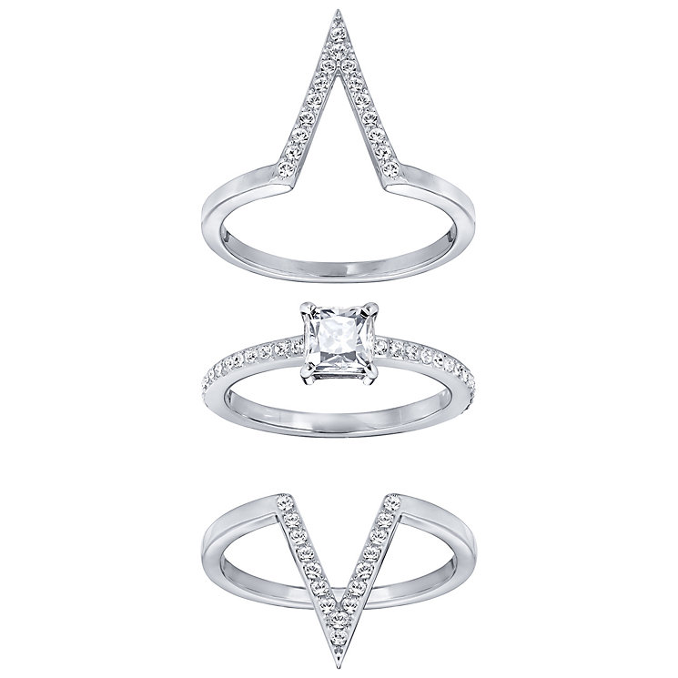 Swarovski Funk Stacking Rings Size Small - Product number 5217660
